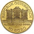 Austria Vienna Philharmonic 1/10 oz Gold  2014