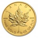 Canada Maple Leaf 1/2 oz Gold 2013