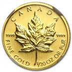 Canada Maple Leaf 1/20 oz Gold 2012