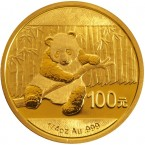 China Panda 1/4 oz Gold 100 Yuan 2014