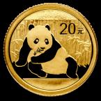 China Panda 1/20 oz Gold 20 Yuan 2015