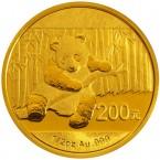 China Panda 1/2 oz Gold 200 Yuan 2014