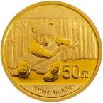 China Panda 1/10 oz Gold 50 Yuan 2014