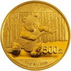 China Panda 1 oz Gold 500 Yuan 2014