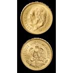 Mexic 5 Peso Mexicani Aur