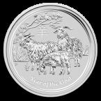Australia Lunar Goat 1 oz Argint 2015