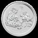 Australia Lunar Rooster 1 oz Argint 2017