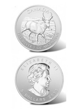 Canada Antelope 1oz Argint Wildlife Series 2013