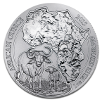 Ruanda African Buffalo African Ounce 1oz Argint 2015