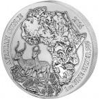 Ruanda Impala 1 oz Argint 2014