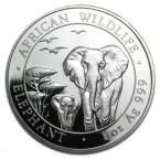 Somalia Silver Elephant, African Wildlife, 100 Shilling, 1oz Silver, 2015